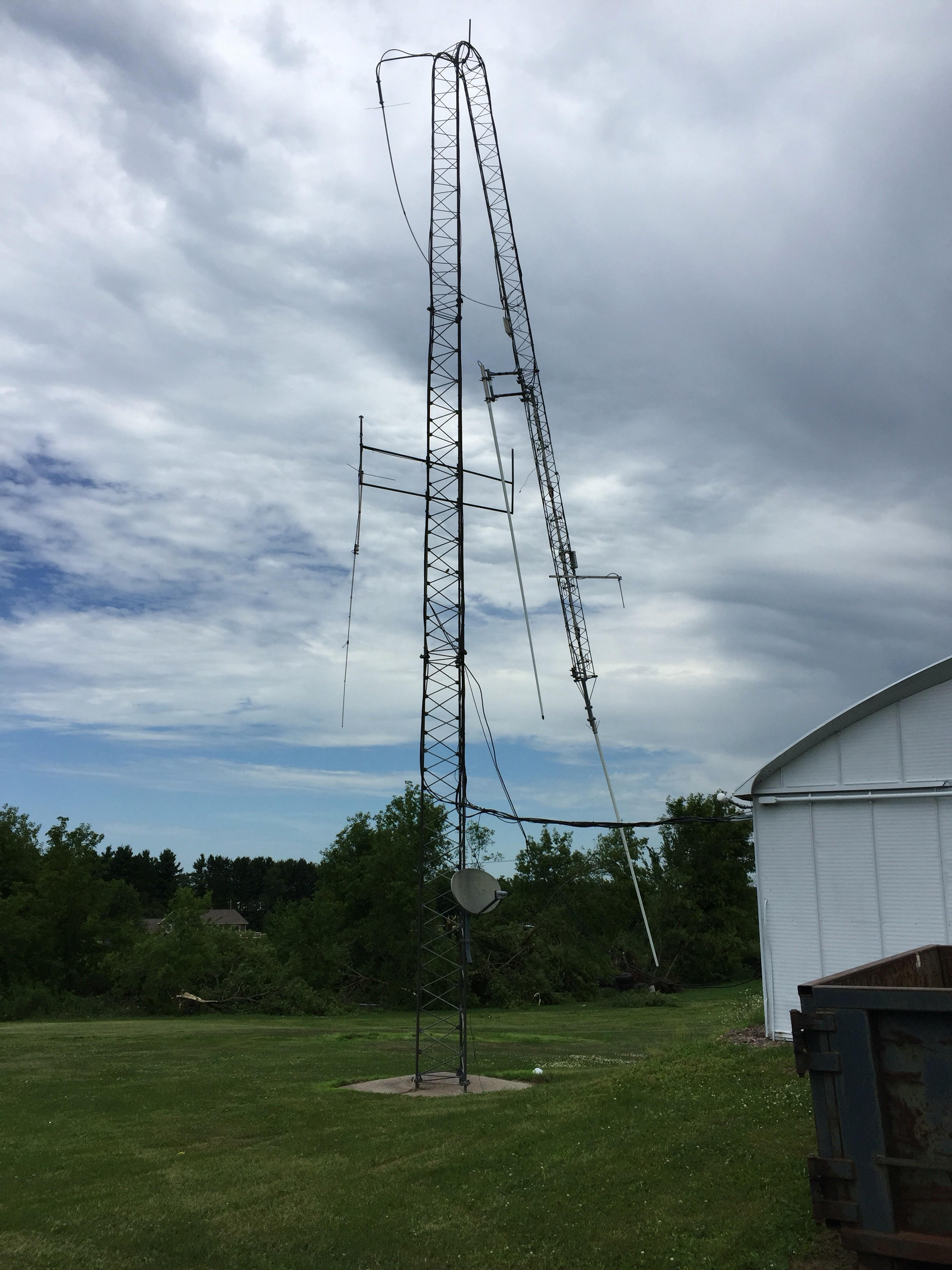 Baribeau Implement Tower Damaged - Barron County Amateur